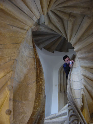 [double spiral staircase]