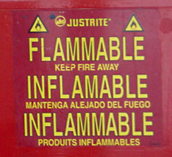[Flammable, inflamable, inflammable sign]