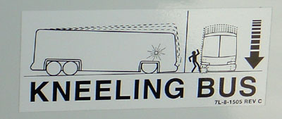 [Kneeling Bus sign]