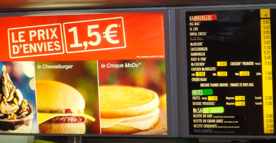 [French McDonald's Menu]