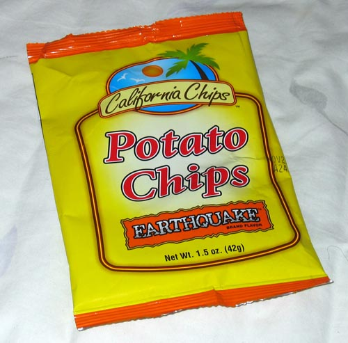 [Earthquake Flavor Potato Chips]