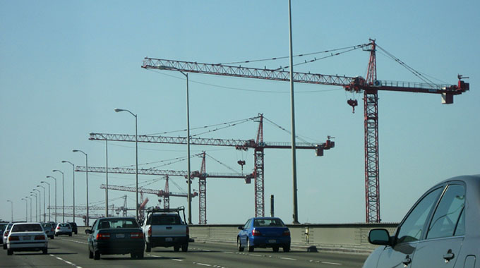 [Bay Bridge Cranes]